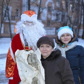 Зоозащитницы Люба и снегурочка Надя
